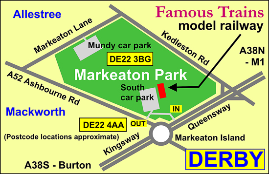 Location of FTMR in Markeaton Park
