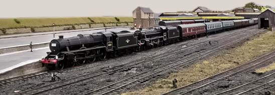 Two Class 5s on 'fifteen guineas special' at Chinley