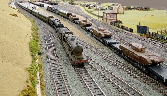 distinctive wartime trains